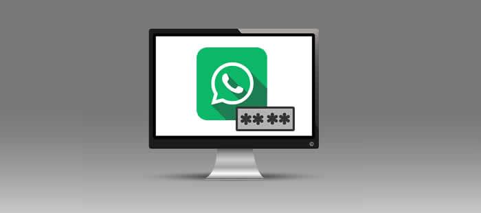 Colocando senha no WhatsApp web - Google Chrome