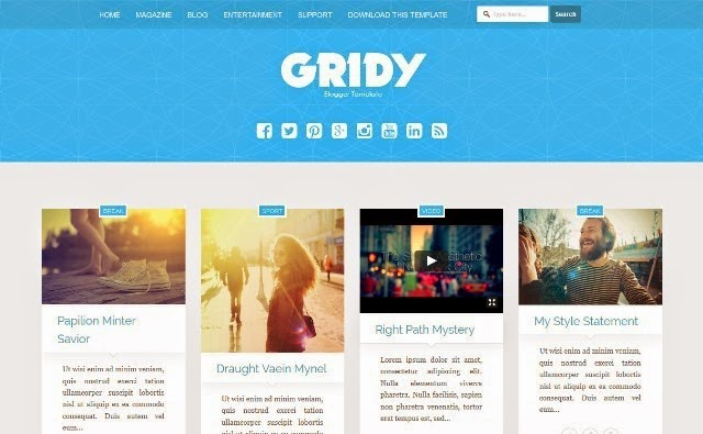 Gridy MultiPurpose Blogger Template
