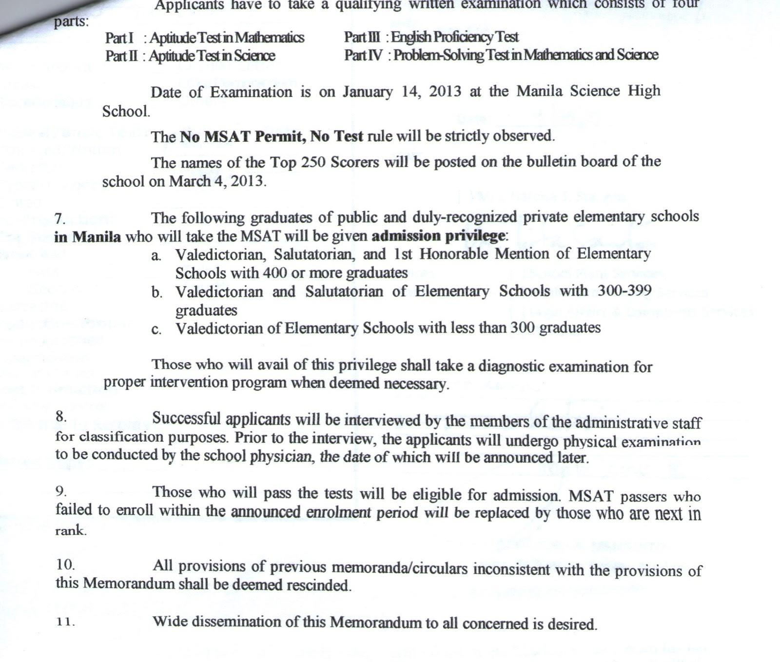 Department Of Education Manila Manila Science High
