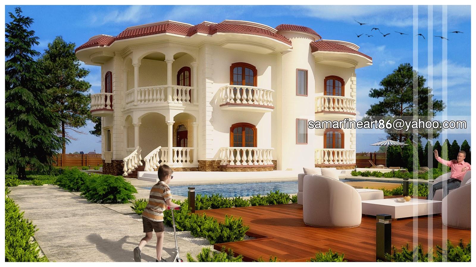 Pleasant Summer Fouad Egyptian Architect Small Villa Design Largest Home Design Picture Inspirations Pitcheantrous