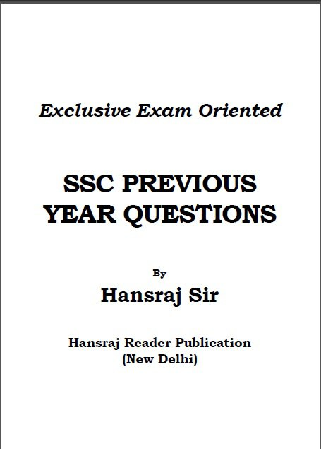 SSC Previous Year Questions with Answers By Hansraj Sir PDF Download