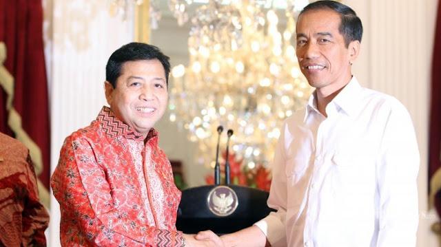 Presiden Jokowi Bertemu Setya Novanto