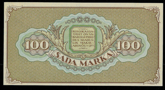 Banknotes of Estonia 100 Marka note