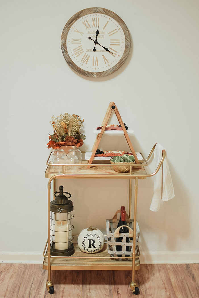 Fall Inspired Bar Cart With Bed Bath Beyond