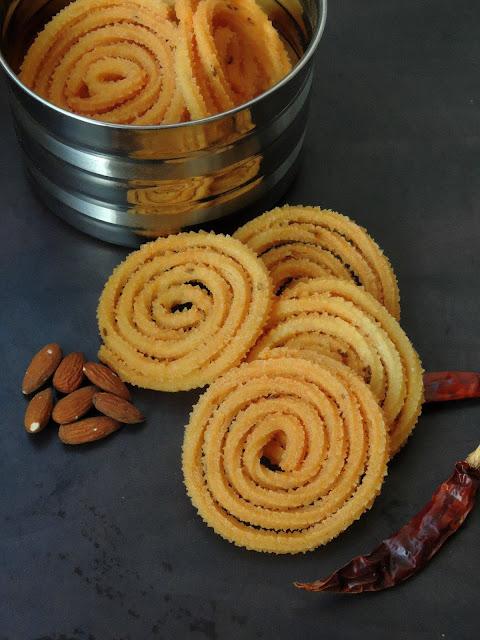 Badam Kara Murukku, Almond Chakli