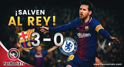 Barcelona venció 3 a 0 al Chelsea y clasificó a Cuartos de Final de la Champions League