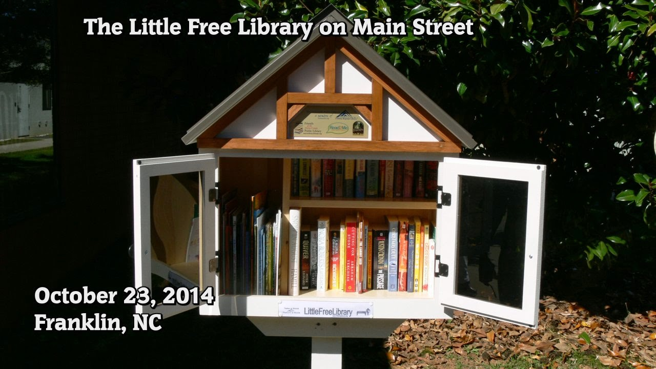 A Little Free Library on Main Street in Franklin