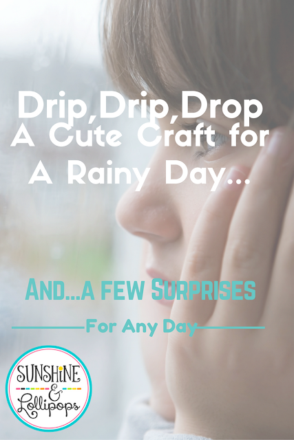 Don't wish those clouds away...Let's turn those rainy days into fun days with this cute craft and some other ideas will be sure to put a smile on your face and turns that frown upside down