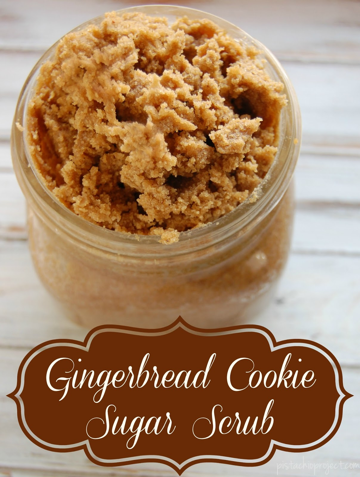 Gingerbread Cookie Sugar Scrub -This gingerbread cookie inspired scrub will help exfoliate and help moisturize your skin. Along with the exfoliating power of sugar and the moisturizing benefits of oil, there are also a few great ingredients that do more than just make this scrub smell like gingerbread men!