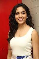 Actress Ritu Varma Stills in White Floral Short Dress at Kesava Movie Success Meet .COM 0122.JPG