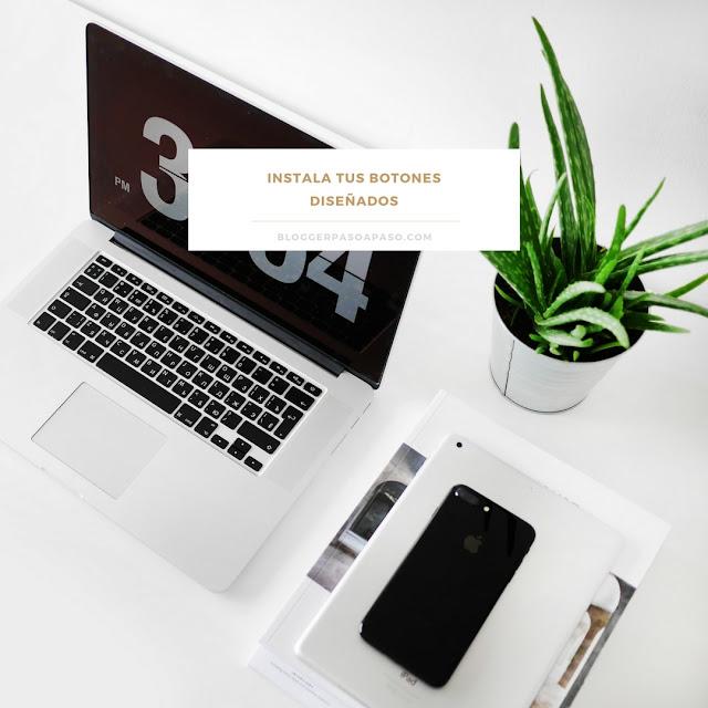 Instala tus iconos de redes sociales de diseño propio en Blogger Tutorial paso a paso