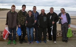 The Crazy Mini Golfers in Skegness from l-r Seth Thomas, Brad Shepherd, Emily Gottfried, Richard Gottfried, Alan Norman, Chris Jones, Peter Jones