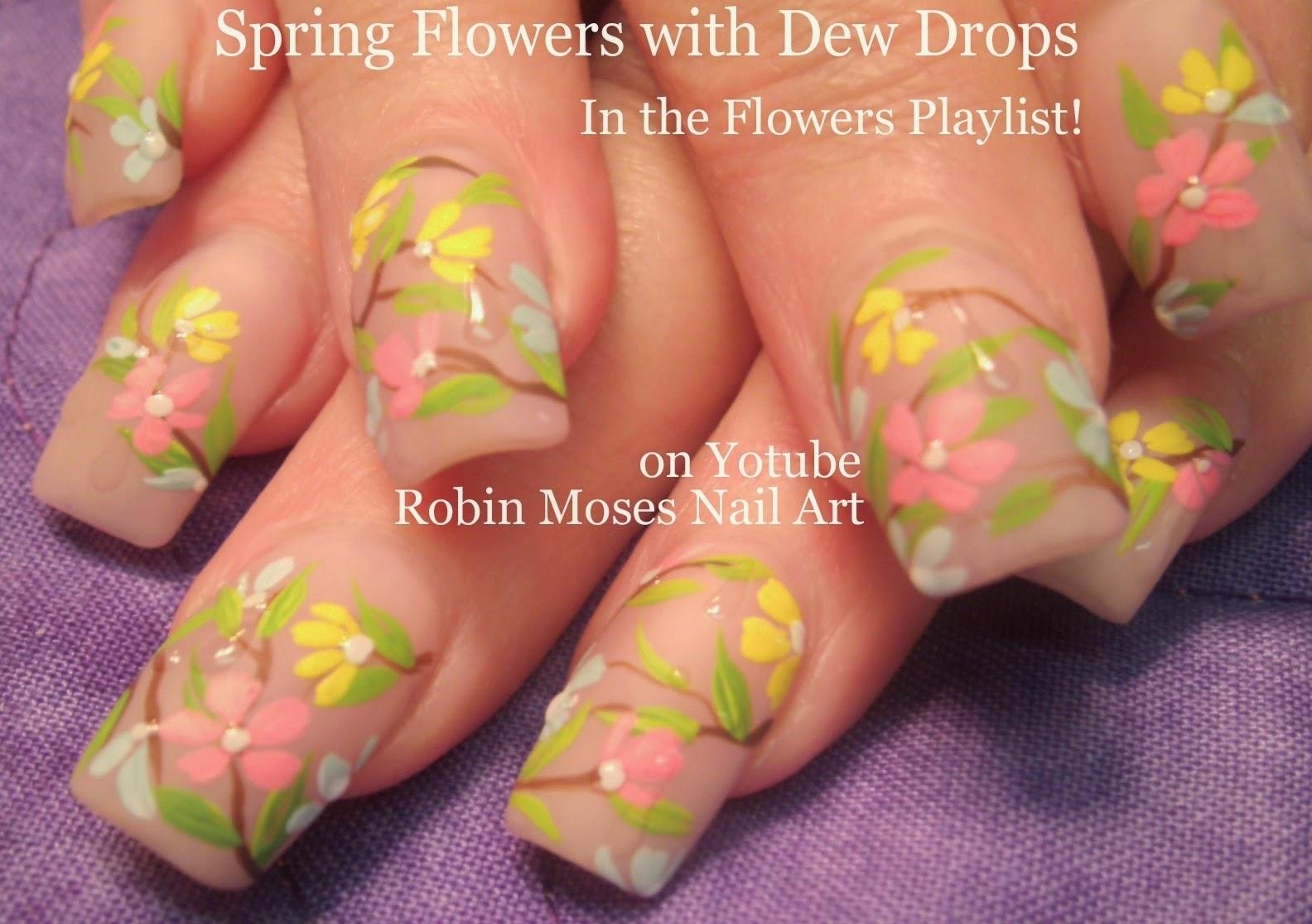 "Estremamente Robin Moses Nail Art: ""flower nails"" ""matte nails"" ""nail art  PT66"