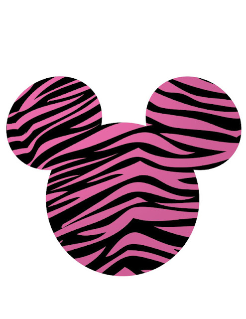 Pink Cebra Print Minnie Head.