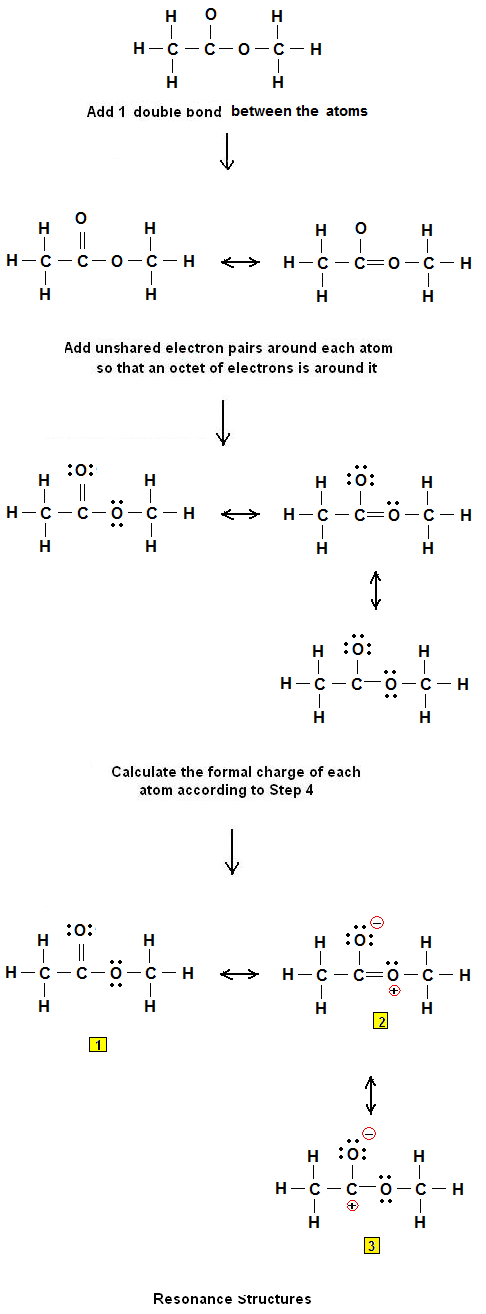 What is the Lewis structure of methyl acetate CH3COOCH3