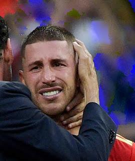 المشهد الذي انتظرها المصريون طويلا راموس يبكي وإسبانيا خارج المونديال