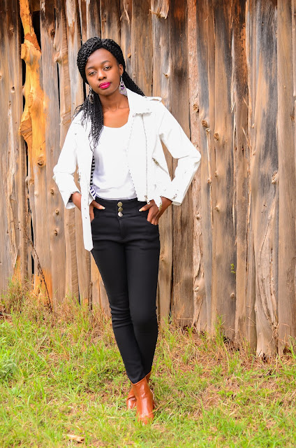 Here's A White Leather Jacket Outfit Idea To Try