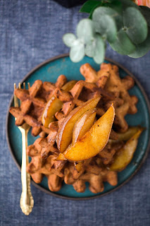 Meatless Monday Vegetarian Pear Recipes - Pear Waffles