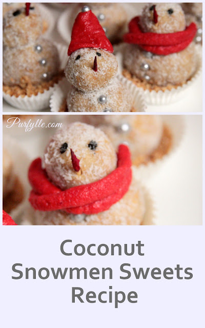 Coconut Snowman Sweets - the perfect Christmas in July recipe