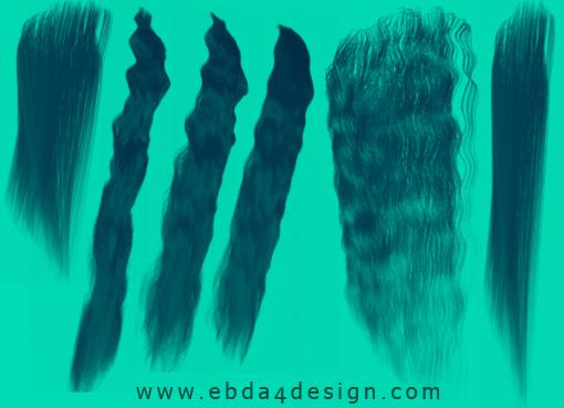 تحميل فرش شعر للفوتوشوب مجاناً, Photoshop Brushs free Download, Hair Photoshop Brushs free Download