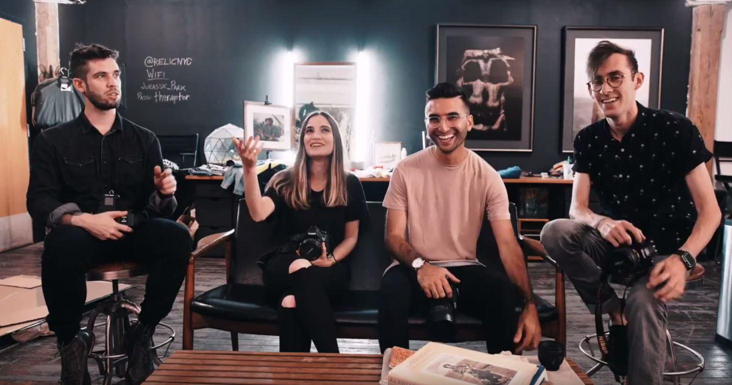 Joey L, Dani Diamond, Brandon Woelfel & Jessica Kobeissi shoot the same model