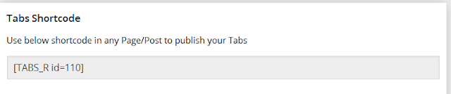 create easily tabs for WordPress using drag and drop