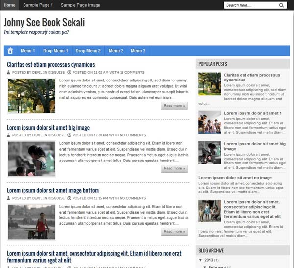 johny see book - simple seo responsive blogger template
