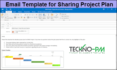 Email template in outlook, Outlook Email Template for Project Managers, Email Template for Sharing Project Plan