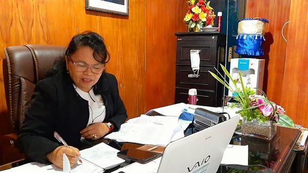 Renta Rego Pimpin Pelatihan Siaga COVID-19 di BKKBN Provinsi Maluku.lelemuku.com.jpg