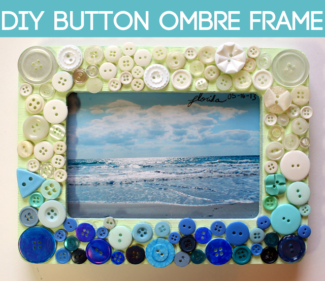 punk projects: DIY Button Ombre Frame