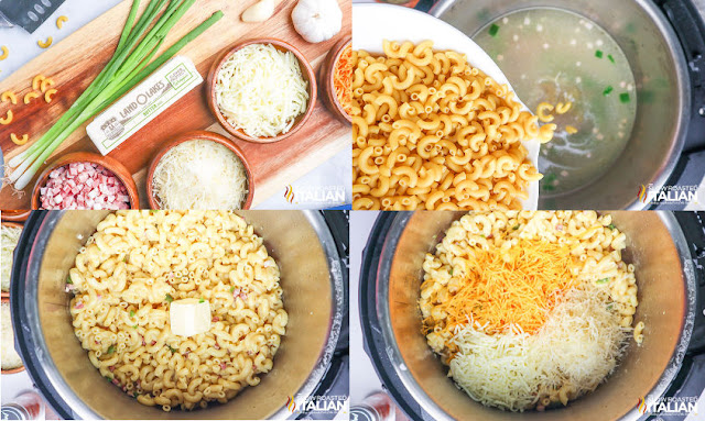 Instant Pot mac n cheese step by step