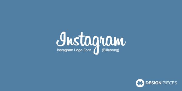 Facebook logo font & Instagram logo font