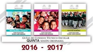 Guías Quinta sesion CTE 2016-2017