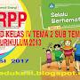 UNDUH RPP KURIKULUM 2013 KELAS 4 TEMA 2 SUB TEMA 1 - 4 REVISI 2017