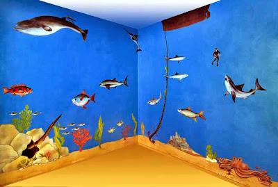 Lukis dinding seaworld