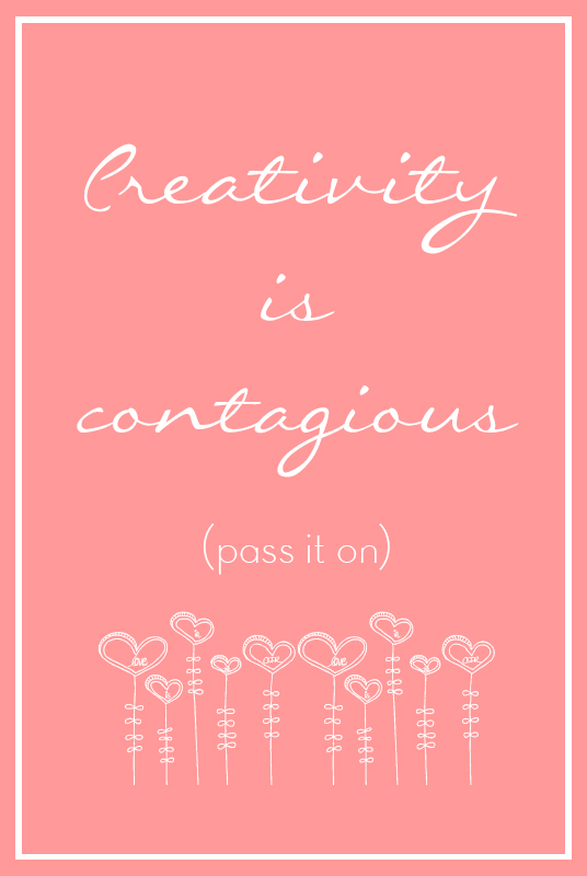Creativity is contagious printable by Anabelia