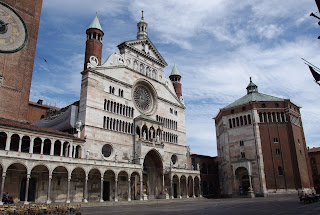 The Duomo and Baptistery in the centre of Cremona