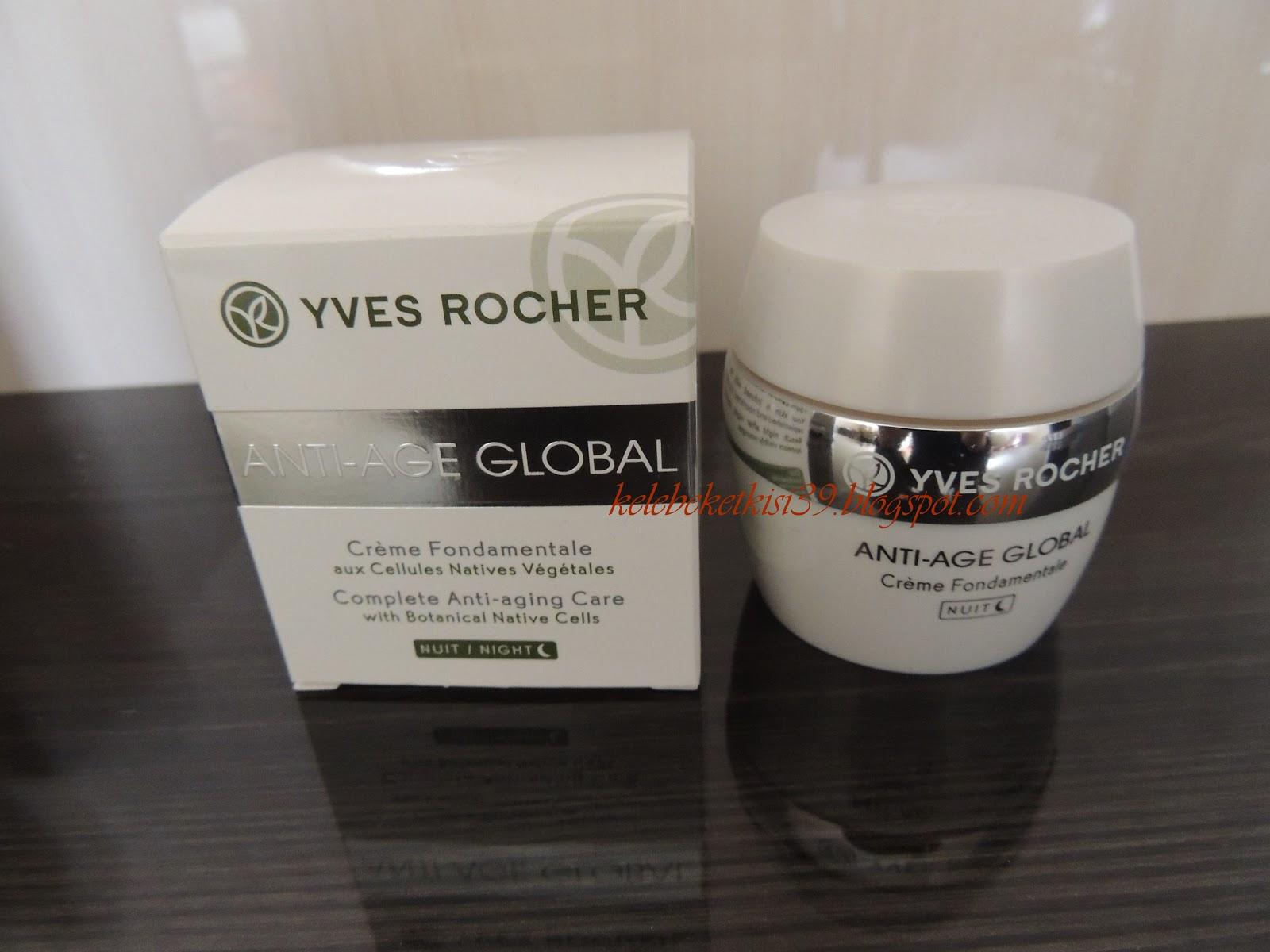 Yves Rocher Anti Age Global Gece Kremi Kelebek Etkisi Makyaj