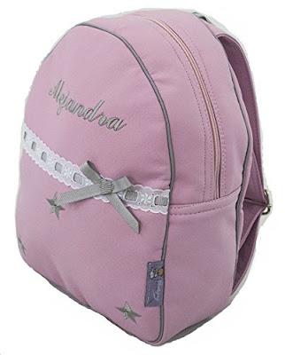 mochila personalizada ecopiel rosa