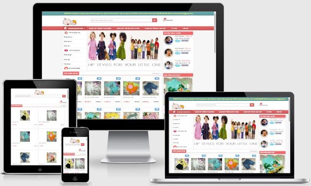 Template blogspot bán hàng trẻ em chuẩn seo