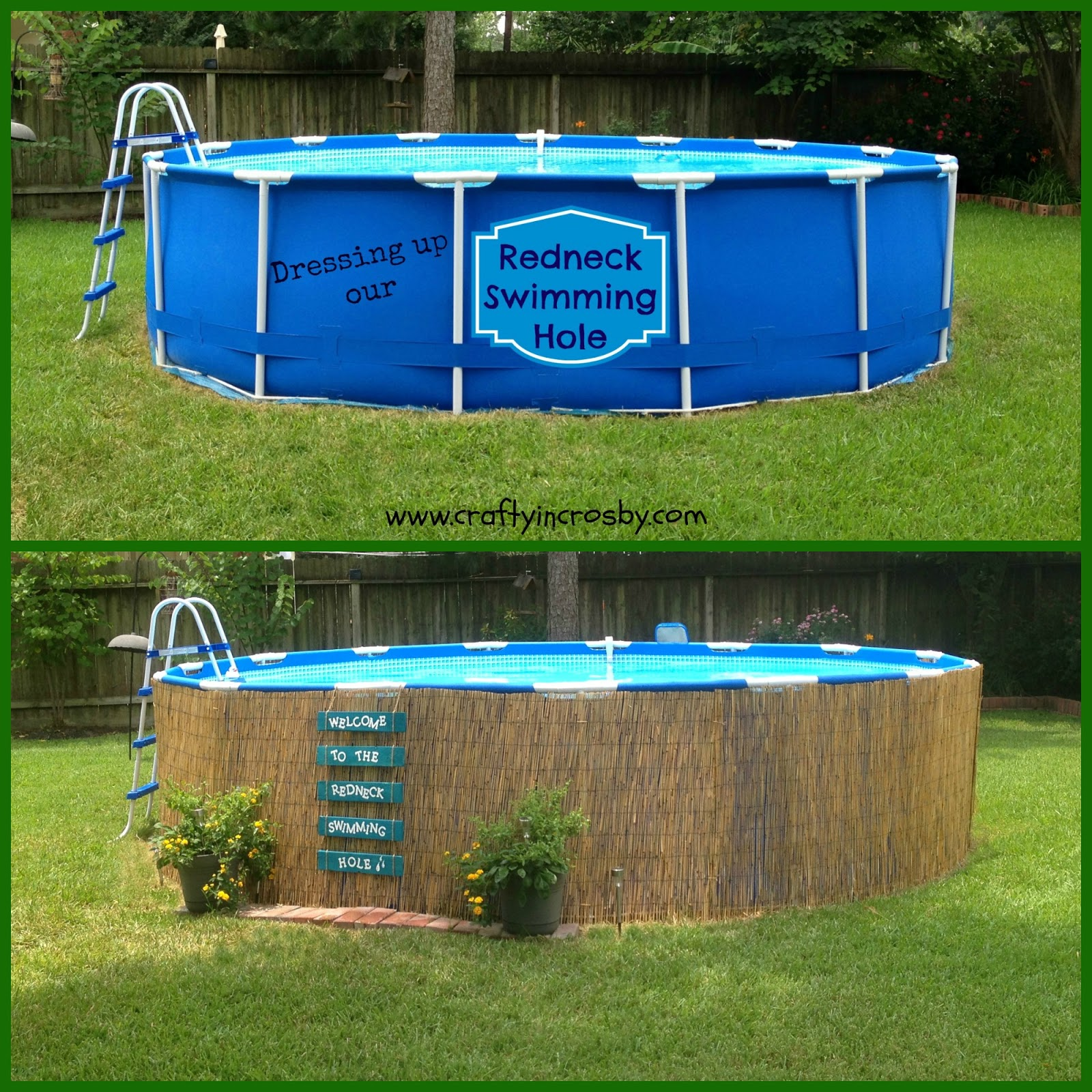 Crafty in crosby easy pallet sign and above ground pool - How to build an above ground swimming pool ...