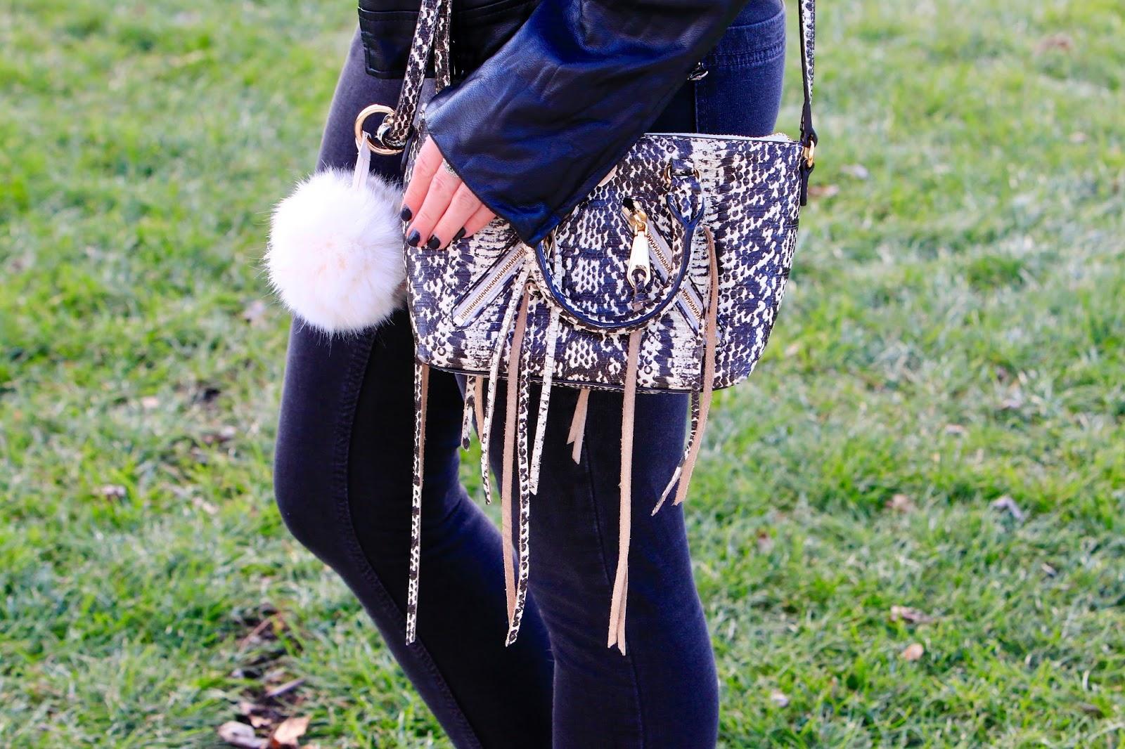 snakeskin rebecca minkoff purse