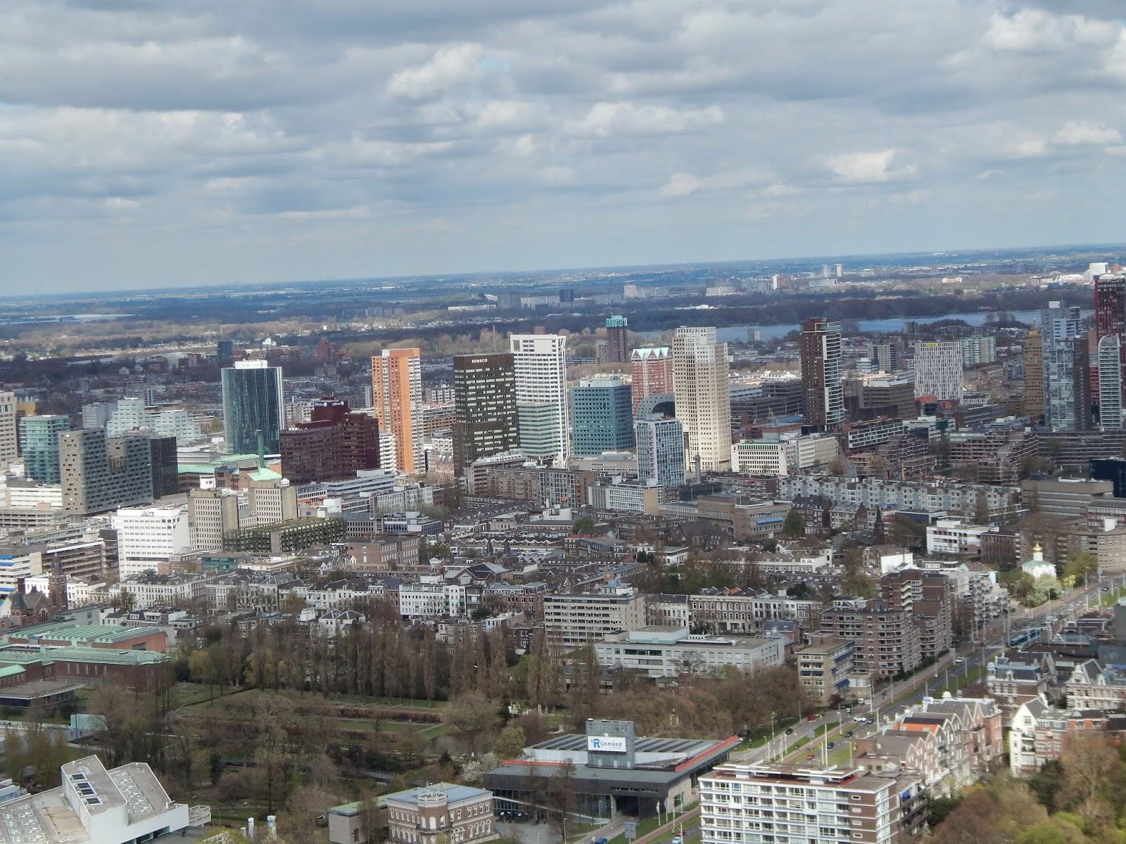 výhled z rozhledny Euromast Rotterdam