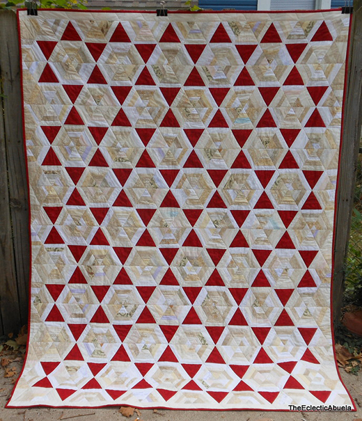 Stars on Strings Quilt Free Tutorial designed by The Eclectic Abuela