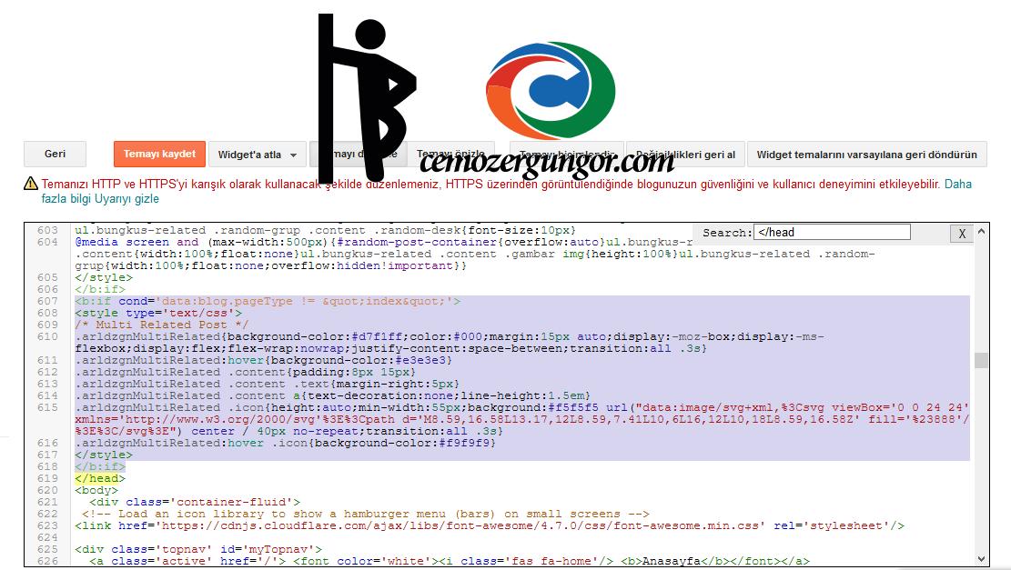Blogger Css kodları