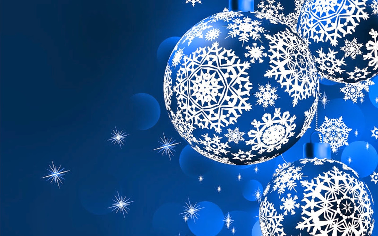 Christmas bauble abstract vector graphics image Blue background silver designs wallpaper