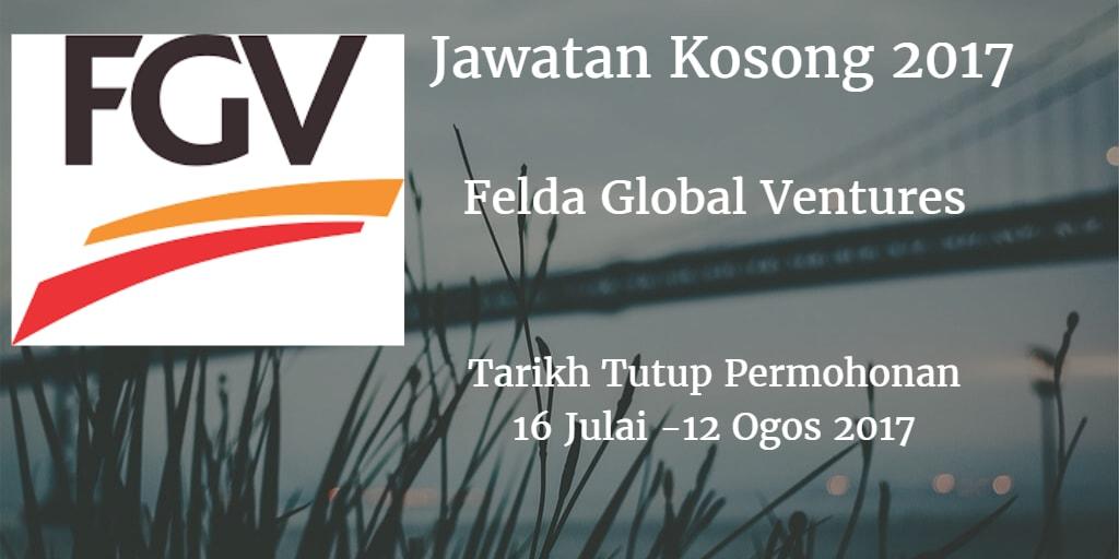 Jawatan Kosong FGV 16 Julai - 12 Ogos 2017