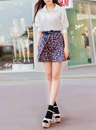 45+ Contoh Model Rok Pendek Motif Bunga Untuk Remaja 2020, KEREN