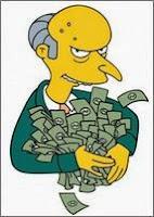 Выбор профессии - много денег у мистера Бернса из Симпсонов