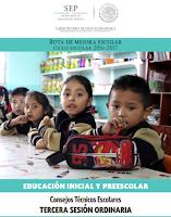 Tercera Sesión Ordinaria CTE 2016 Preescolar